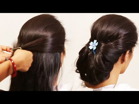 Simple Hairstyle Beautiful | Girls Hair Style poof |  Tutorials 2019 thumbnail