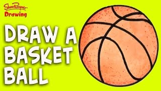 How to draw a Basket Ball - Easy step-by-step for kids