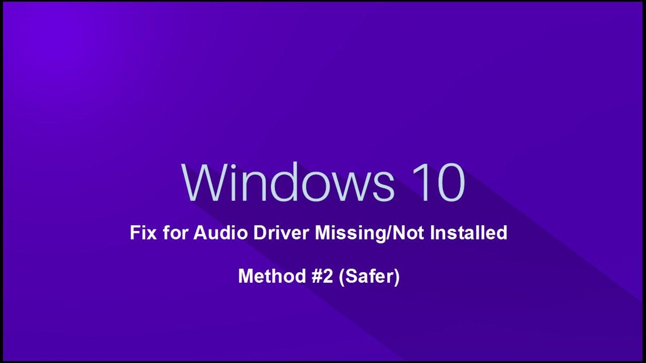 how to restart audio drivers windows 10