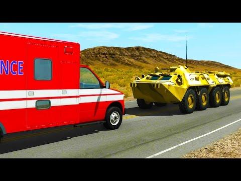 CARS VS. BTR-80 - BeamNG drive