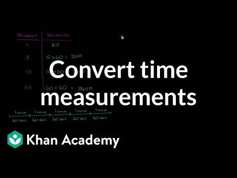 How to convert hours to minutes and minutes to seconds | Khan Academy