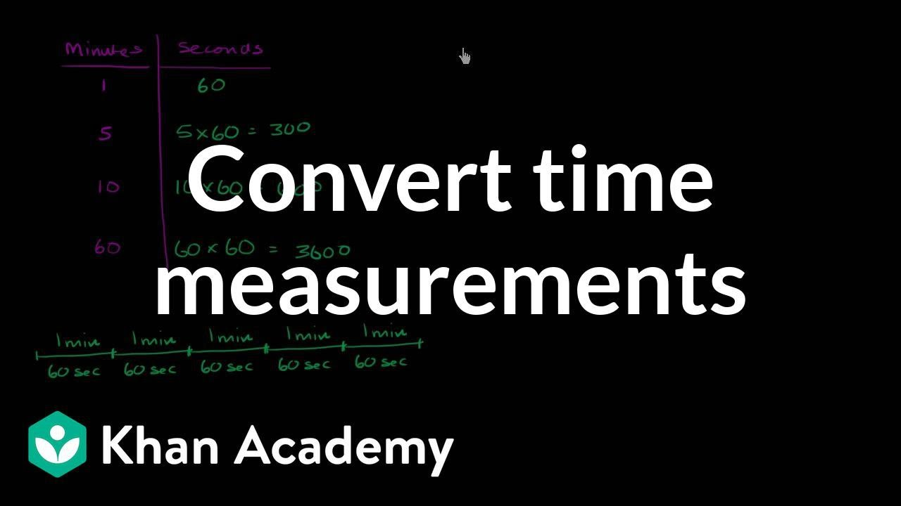 Converting units of time (video) | Khan Academy