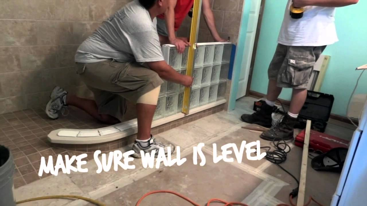 How To Install A Curved Glass Block Shower Wall With A
