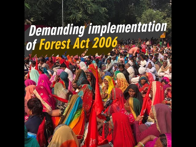 Thousands of Adivasis demand the implementation of FRA 2006