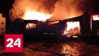 Крупный пожар на складе в Пензе тушат несколько часов – Россия 24 