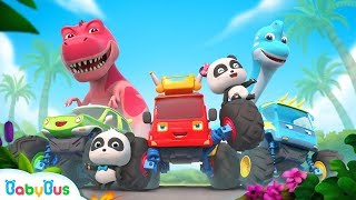 Baby Panda and Super Monster Cars | T-Rex's Homeland | Car Story | BabyBus