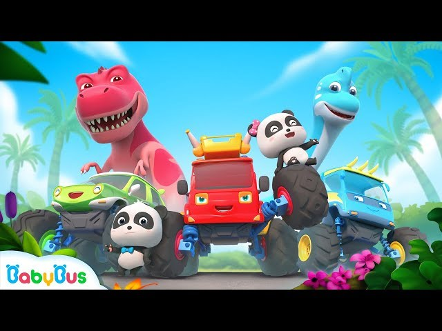 Baby Panda and Super Monster Cars | T-Rex's Homeland | Car Story | BabyBus