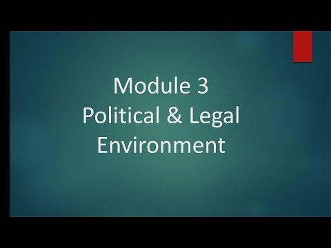 Class 17 Module 3: Political & Legal Environment