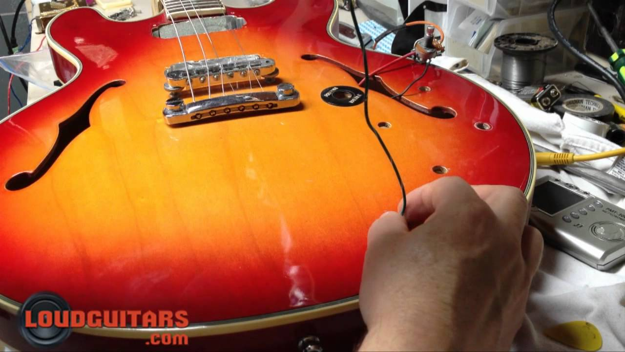 how to rewire a hollow body diy loud guitars [ 1280 x 720 Pixel ]