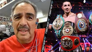"ABEL SANCHEZ REACTS TO LOPEZ DEFEATING LOMACHENKO ""TEOFIMO CLOSEST THING TO DURAN IN 35 YEARS!"""