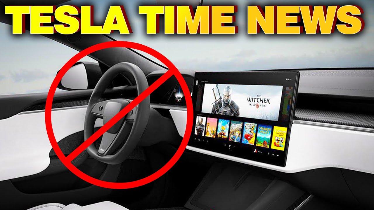 Tesla Time News - No More Steering Wheel??!