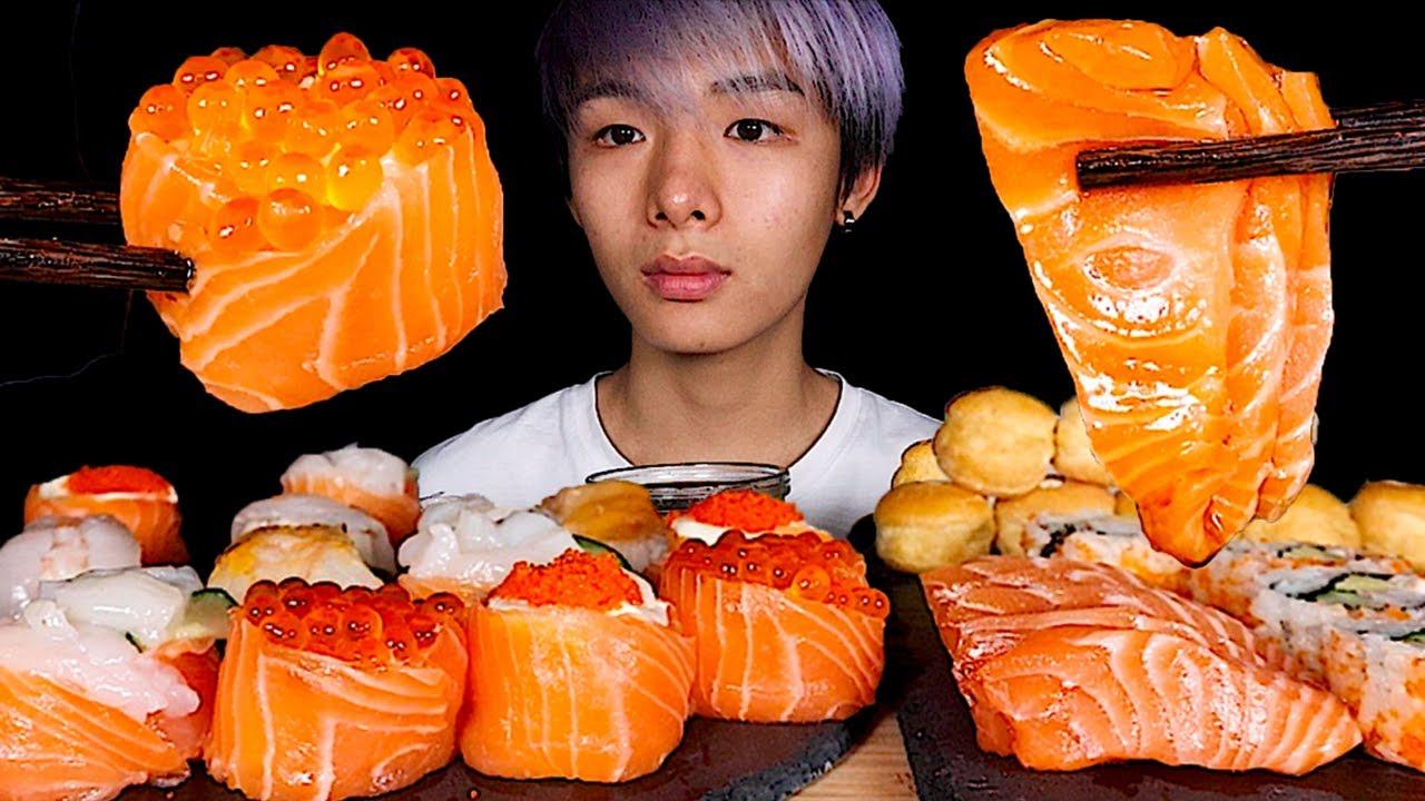 Youtube Video Statistics For Asmr Salmon Sushi Sashimi Cream Puffs Eating Sound Mar Asmr Noxinfluencer moona asmr triggers para dormir moona😴/ for sleep / асмр триггеры для сна. noxinfluencer