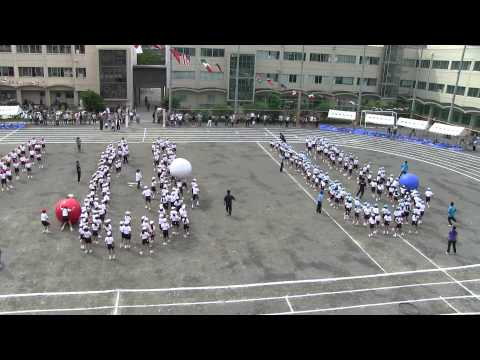 Japanese elementary school student's sport day game 日本の小学生のスポーツデーゲーム