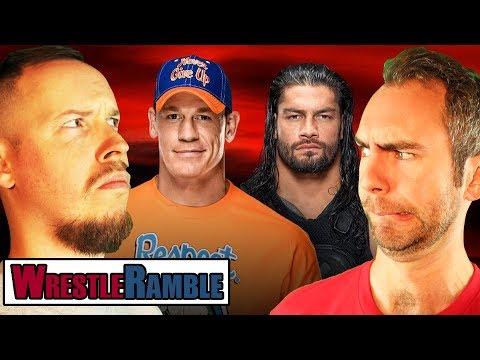 Is Roman Reigns vs. John Cena STALE?! WWE Raw Vs. Smackdown, Sept. 11 & 12, 2017 | WrestleRamble