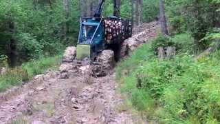Zrywka drewna W Bieszczady Forwarder Timberjack 230A ( Nie LKT,kockums,valmet)