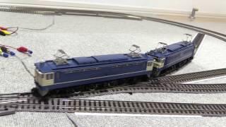 フライシュマンHOのプロフィレールR356.5とポイントでお座敷運転 機関車多数