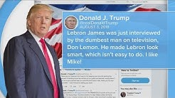 Trump takes a shot at Lebron James on Twitter