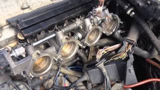 BMW M42 with 4 of the individual throttle bodies from a M3 E36