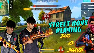STREET BOYS PLAYING ||RANK MATCH DUO VS SQAUD || 21 KILLS LIVE GAMEPLAY|| GARENA FREE FIRE