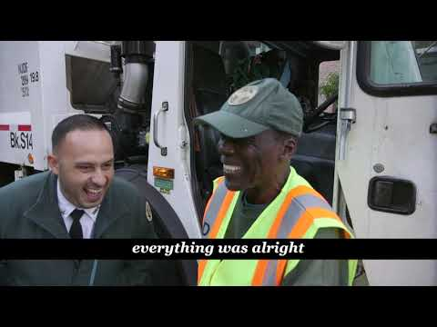 NYC Sanitation Worker retires after 32 years - his daughter worked alongside him on his last route!