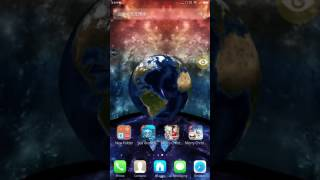 Cosmic Star Earth 3D theme with Earth live wallpaper and iOS10 icon...