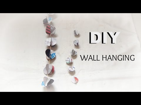PAPER CRAFT: How To Make Paper Garland for room decor- wall hanging easy & simple DIY In 5min