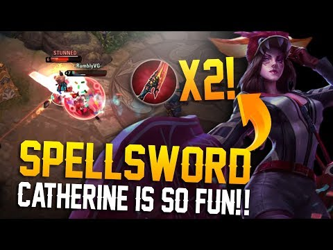 DOUBLE SPELLSWORD CATHERINE!! Vainglory 5v5 Breaking the Meta - Catherine |WP| Mid Lane