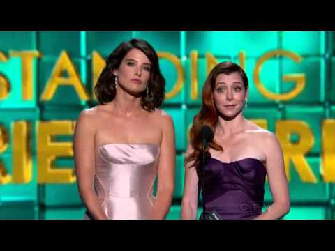 Alyson Hannigan and Cobie Smulders at 65th Annual Primetime Emmy Awards 2013