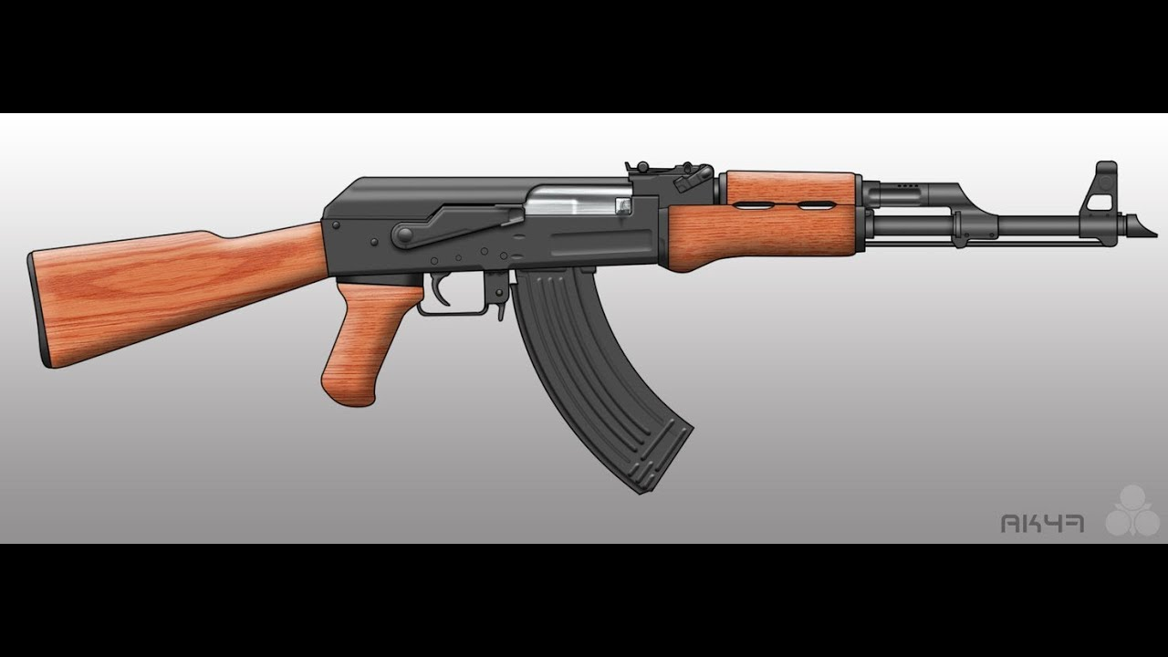 This is a graphic of Astounding Drawing Of Ak 47