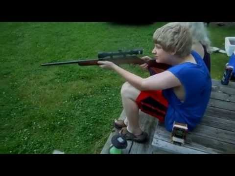 Kids Shooting the  22 Long Rifle