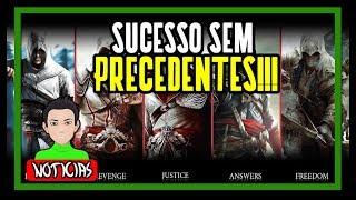 PRODUTORA DE ASSASSINS CREED SE DIZ SURPRESA COM O SUCESSO DA FRANQUIA!!!