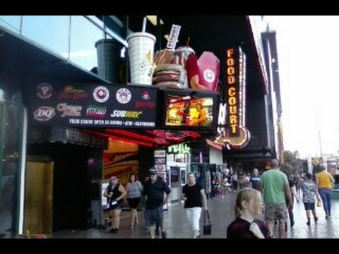 Showcase Food Court Las Vegas Nevada (A view of Las Vegas Blvd) Tour