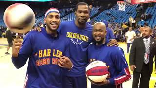 Kevin Durant meets the Harlem Globetrotters