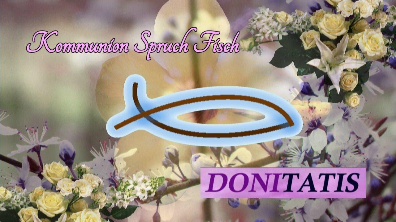Kommunion Spruch Fisch Youtube
