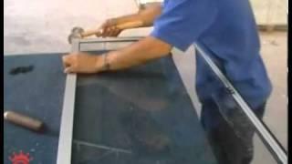 Fabricacion de una ventana Empresa Crown Aluminio