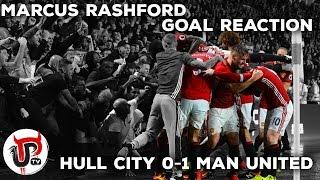 MARCUS RASHFORD GOAL, AWAY END CELEBRATIONS! | HULL 0-1 MAN UNITED