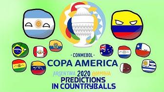 Copa America 2020 Predictions in Countryballs