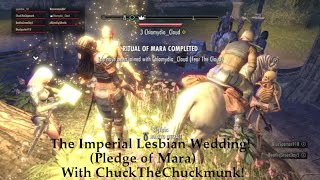 (ESO Gameplay/Roleplay) An Imperial Lesbian Wedding! Pledge of Mara