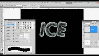Photoshop CS5 - Advanced Beginner - Ice Text Effect Tutorial