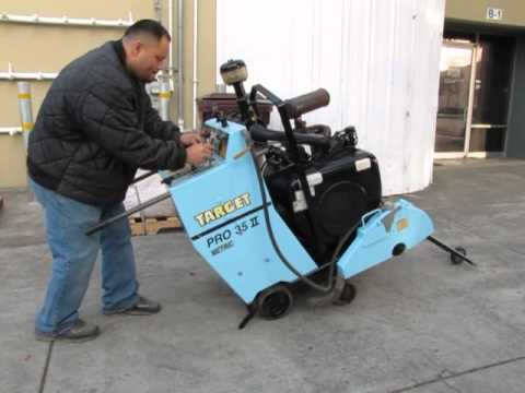 *SOLD* Target PRO 35 II Metric Concrete Cement Saw 35hp Wisconsin Gas Self Propelled