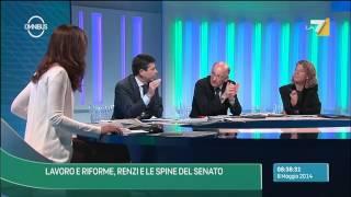 Omnibus - Lavoro e Riforme, Renzi e le spine del senato (Puntata 08/05/2014)