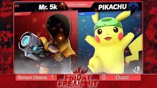 UFF #1 [SSBU] - Ducc (Dark Samus/Pikachu) vs PBLK | Benson Obama (Mii Brawler) - Pools WQ