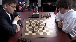 BEAUTIFUL COMBO ROOK AND KNIGHT ENDGAME!!! Magnus Carlsen Vs Evgeny Tomashevsky - Blitz Chess 2012