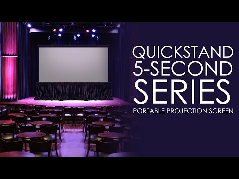 Elite Screens QuickStand 5-Second Series, Large Venue Portable Projection Screen