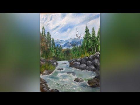 #Landscapepainting #Oilpainting                 Landscape Painting