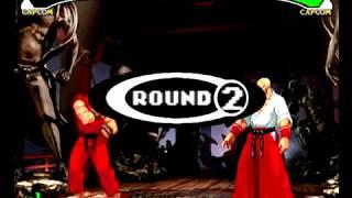Capcom VS SNK Pro (Dreamcast) Arcade Mode as Ryu/Ken