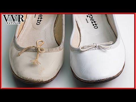 [ASMR] 'Clean & Restore' 'Repetto' 'Cendrillon'  White Ballerina Flat Shoes