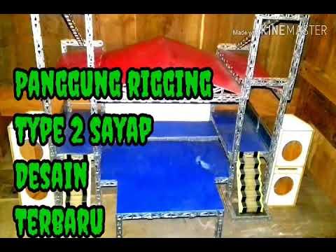 MINIATUR PANGGUNG RIGGING type 2 sayap - YouTube