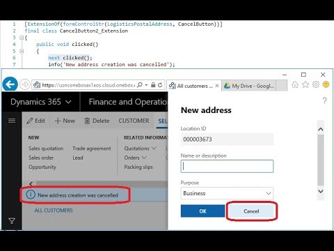 Dynamics 365 Chain of Command Method Wrapper simple X++ Visual Studio  project