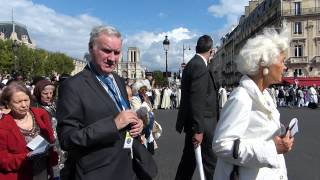 Assumption of Mary procession in Paris, France